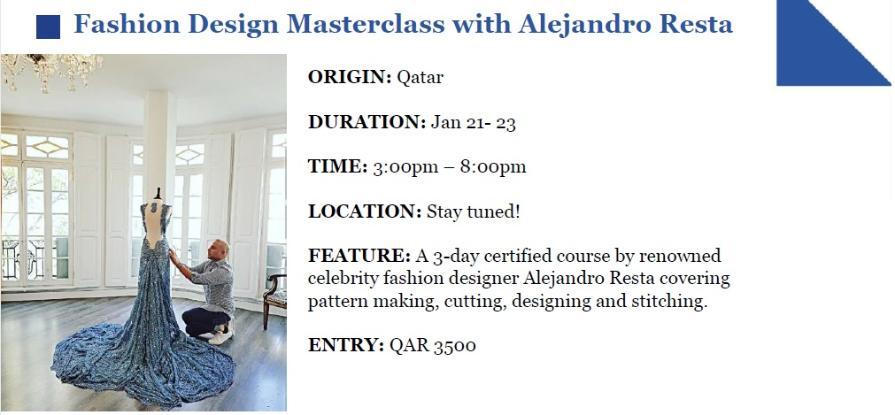 Shop Qatar Fashion Design Masterclass